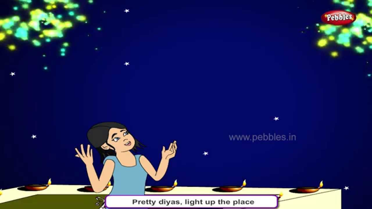 Celebration Songs For Kids HD | Diwali Rhyme | Festival of Lights ... for diwali animation for kids  165jwn