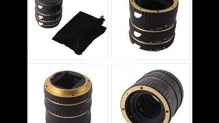 Baixar AF Auto Focus Macro Extension Tube Set DG for Canon EOS EF EFS Lens Gold