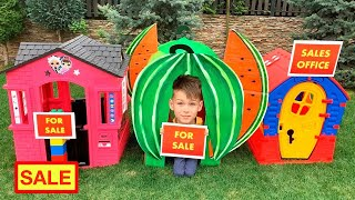 Five Kids New Playhouses Song + more Children's Songs and Videos