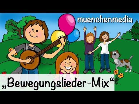 ♫ Spiel - und Bewegungslieder Mix, Kinderlieder deutsch | Kinderlieder zum Mitsingen - muenchenmedia