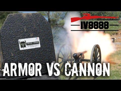 AR500 Armor vs Cannon