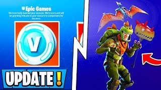 *NEW* Fortnite Update! | Cheap Skin Packs, 2000 Vbucks Award, Map Change!