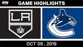 NHL Highlights | Kings Vs. Canucks - Oct. 9, 2019