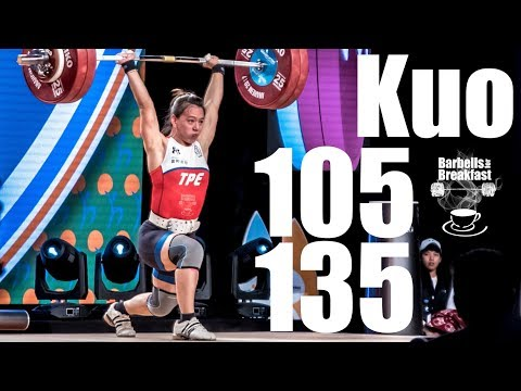 Hsing-Chun Kuo (58kg Taipei) 105kg Snatch 135kg Clean and Jerk - 2017 world champion