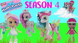 Season 4 Shopkins Happy Places Lil Shoppies and Pony Hard to find Cutiecorn Unboxing and Giveaway