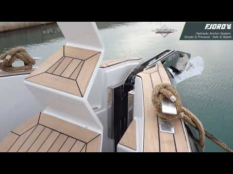 Fjord Boat's Hydraulic Anchor Arm & Hatch - Concealed Anchor