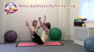 Pilates Workout Exercise: Teaser with Mini Body Bar
