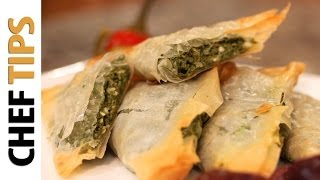 Spanakopita Recipe - Greek Spinach Pies for Super Bowl