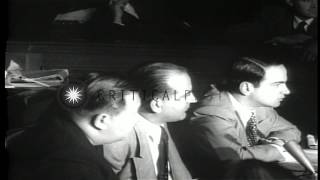 Senate Subcommittee investigating Army Signal Corps Subversion and Espionage.  Se...HD Stock Footage