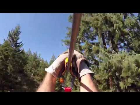 Crater Lake Zipline Course Adventure GoPro