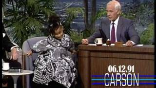 "Raven Symone 5 Yrs Old Surprises Johnny: ""Watch Yourself Mr. Carson!"", 1991"