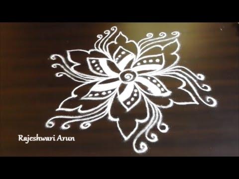 free hand rangoli designs without dots || simple kolam ...