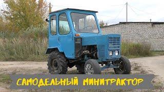 самодельный МИНИТРАКТОР с двигателем ЗиД 4,5. Обзор