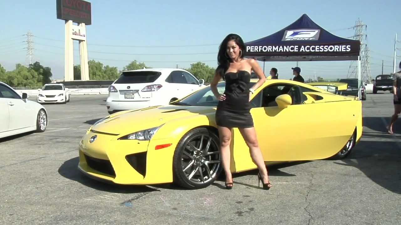 Sexy Girl And Lexus Lfa Supercar Youtube