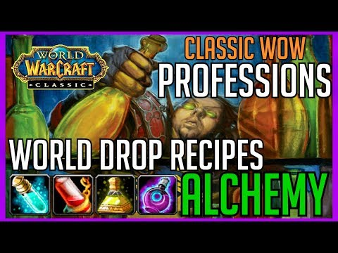 Classic Vanilla WoW Professions: World Drop Recipes Alchemy Master Guide World Of Warcraft