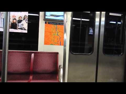 Warsaw metro ride from Młociny to Centrum station - Warsaw, 04.02.2014