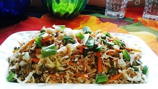 Chinese Fried Rice Recipe - Restaurant Style Vegetable Fried Rice Recipe Video
