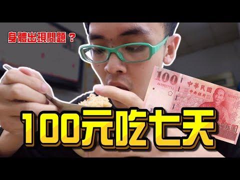 《x綠企劃》100元吃一週,身體竟出現問題? 超越50元吃三餐跟100元吃三餐 !【綠眼鏡】