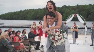 Kira & Vincent | Summer Camp Wedding at Trail's End Retreat in Beach Lake , PA