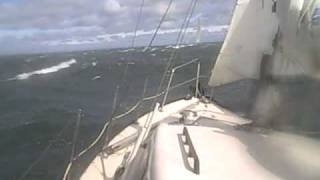 12 meter yacht crossing in 35+ knts