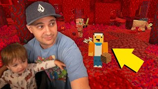 Father and Son go to the Nether together for the first time... | Father Son Minecraft