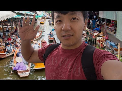 Visiting FLOATING Market in Bangkok, Thailand