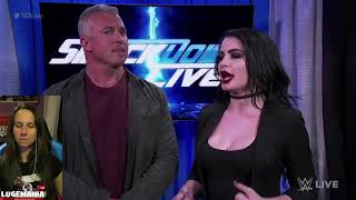 WWE Smackdown Shakeup 4/17/18 Paige Channels her inner Teddy Long
