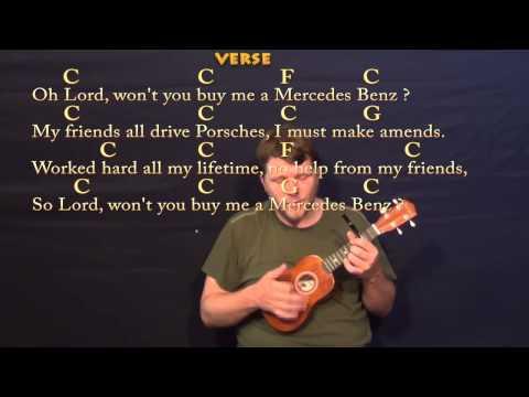 mercedes benz ukulele chords