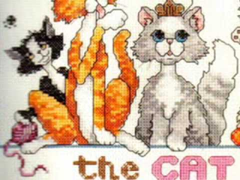 Cross Stitch Kit Home is Where the Cat is at www.abullrun.com