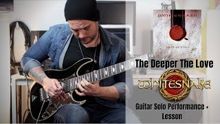 Whitesnake - The Deeper the Love Guitar Solo Cover + Lesson by Rod Rodrigues (Legendado)