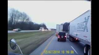 Indiana Jeep deliberately cutting off semi truck