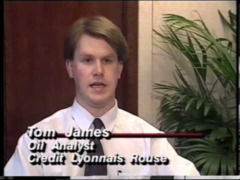 Tom James - Oil Analysis Interview - CNN International World News - 1995