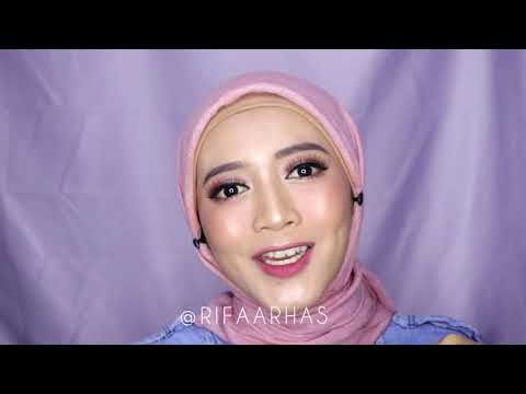 GLAM GLOW MAKEUP TUTORIAL: WARDAH NEW EXCLUSIVE SERIES #FeelThePerfection | Rifa Arhas - YouTube