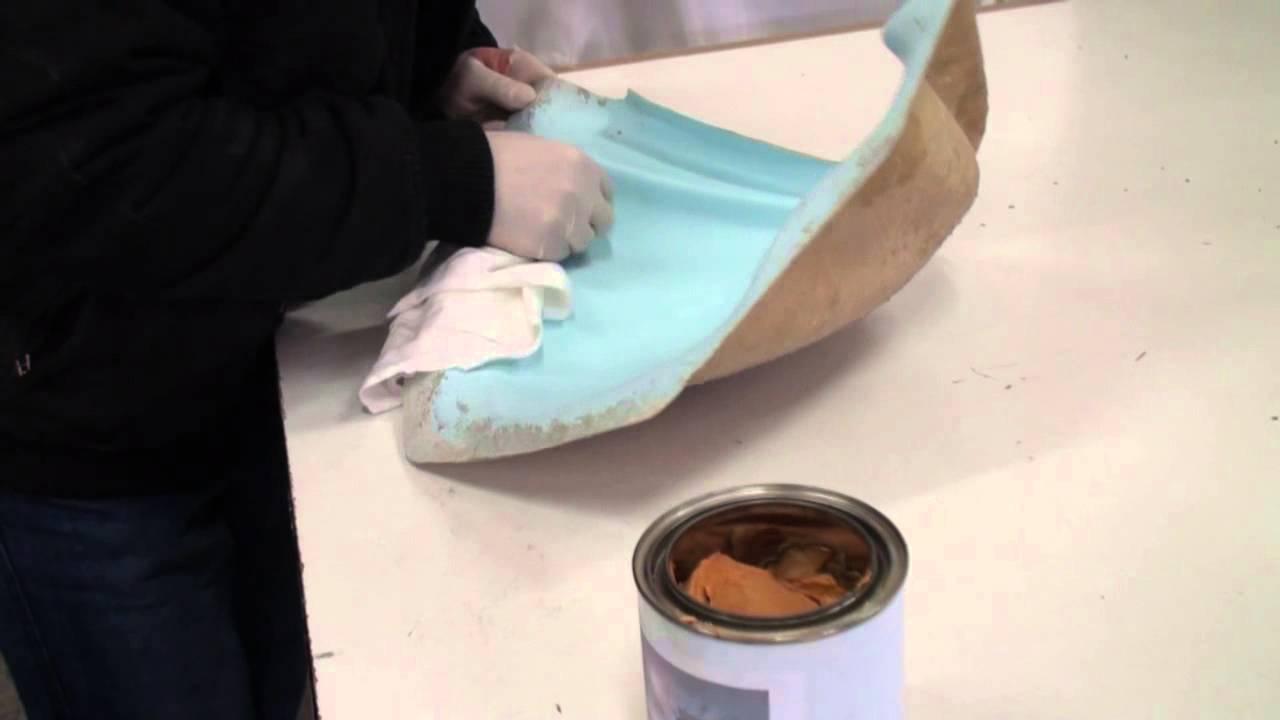 Remettre en service un vieux moule en polyester fibres de - Peindre fibre de verre murale ...