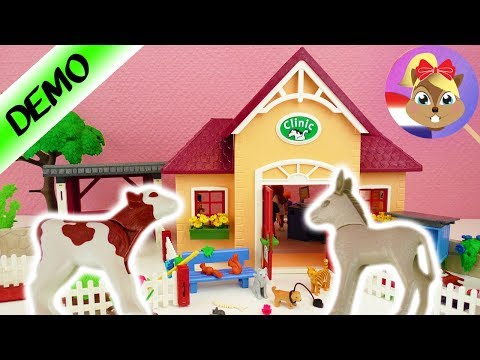 Playmobil dierenkliniek opbouwen | Dierenartspraktijk met omheining 5529 | Honden katten konijnen