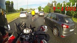 Bloody cyclist - onboard Suzuki DL1000