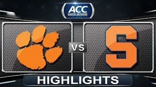 Clemson vs Syracuse | 2014 ACC Women