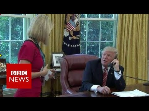 Irish reporter Caitr� ona Perry's 'bizarre moment' with Trump -