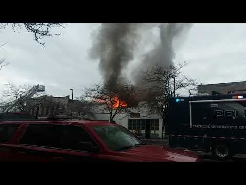 Downtown Bellingham Washington Fire