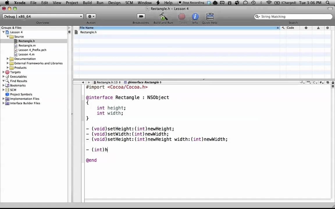 Objective-C on the Mac L4 – @implementation
