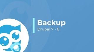 Как сделать бэкап сайта drupal 7 и drupal 8