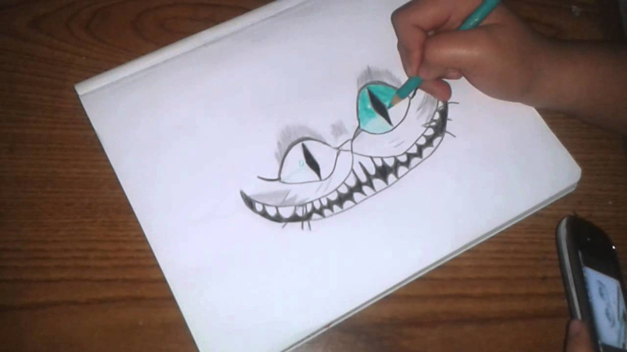 Tutorial de como dibujar el gato de alicia 2 parte - YouTube