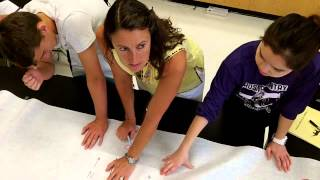 Seafloor spreading paper strip model in-class demo