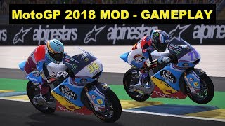 Video MotoGP 2018 Mod | GP FRANCE | Moto2 | Joan Mir | Gameplay download MP3, 3GP, MP4, WEBM, AVI, FLV Agustus 2018