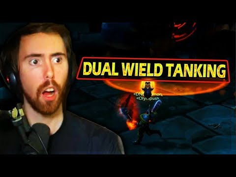 Asmongold AMAZED By How Good DUAL WIELD TANKING Is In Classic WoW