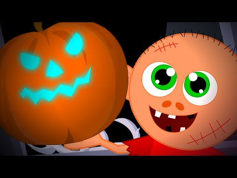 there's a scary pumpkin scary song kids halloween nursery rhymes videos for children