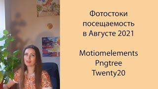 Фото 📊 Фотостоки статистика посещаемости в августе 2021 г. Motionelements, Pngtree, Twenty20. Обзор Poly