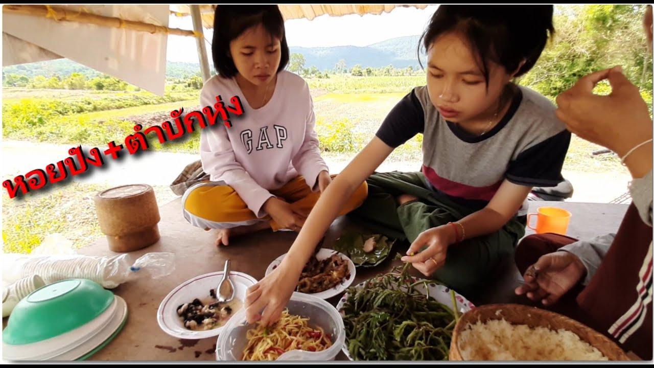 EP2.ชีวิตชาวนา หอยปัง ตำบักหุ่ง,กับข้าวเที่ยงที่ทุ่งนา,ทำกับข้าวที่ทุ่งนา กับชีวิตชาวนา