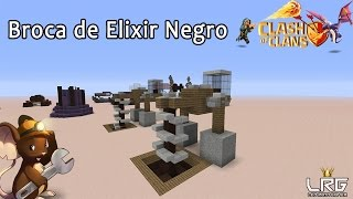 CLASH OF CLANS NO MINECRAFT, Como Fazer a Broca de Elixir Negro No Minecraft