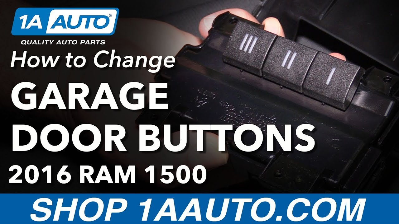 How To Replace Garage Door Opener Buttons 09 18 Ram 1500 Youtube